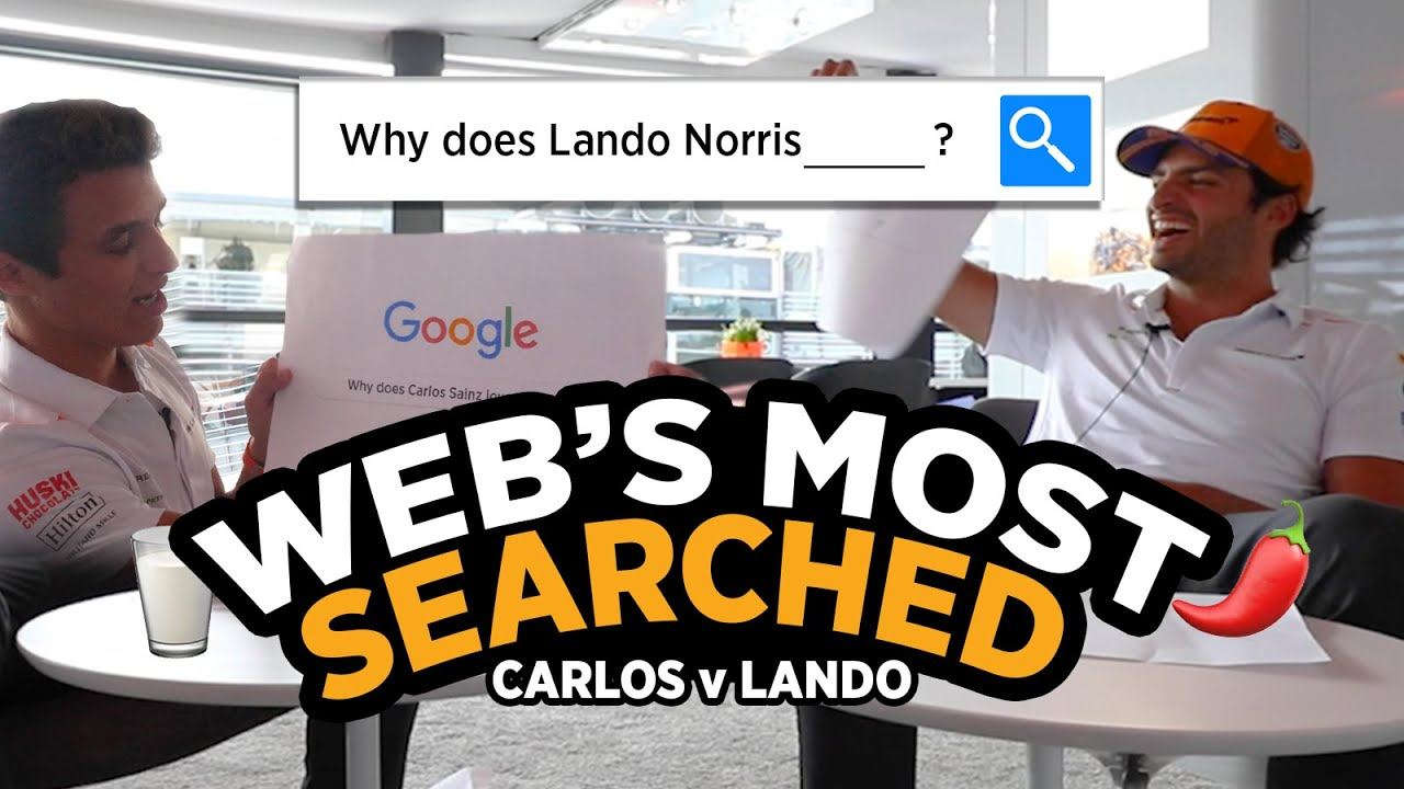 Carlos Sainz and Lando Norris answer the web's most searched questions - Motor Informed