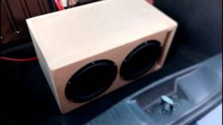 DIY Home building dual 8 inch Peerless SQ Subwoofers Resimi