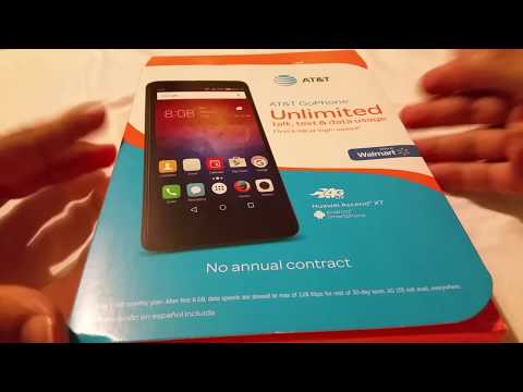 Huawei Ascend XT Android Phone At&t Go Phone Unboxing
