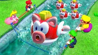 Super Mario Party Minigames - Peach vs Mario vs Luigi vs Wario (Master CPU)