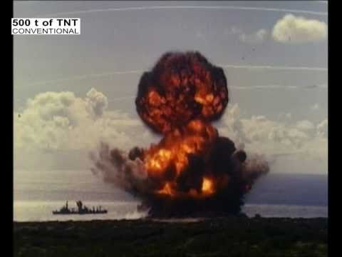 """Explosion of 500 t TNT - Navy test """"Sailor Hat"""" - YouTube"""