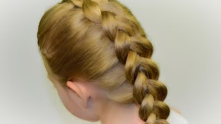How To: Dutch Braid/Inverted French Braid - DIY tutorial! Quick Hairstyle #35