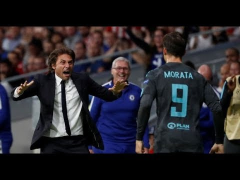 Antonio Conte latest funny celebration, strategic tactics  2017/2018