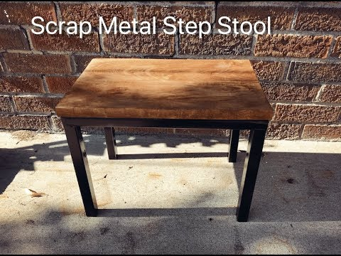 Scrap Metal Step Stool