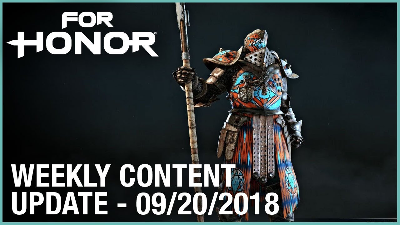 For Honor: Week 9/20/2018 | Weekly Content Update | Ubisoft [NA]