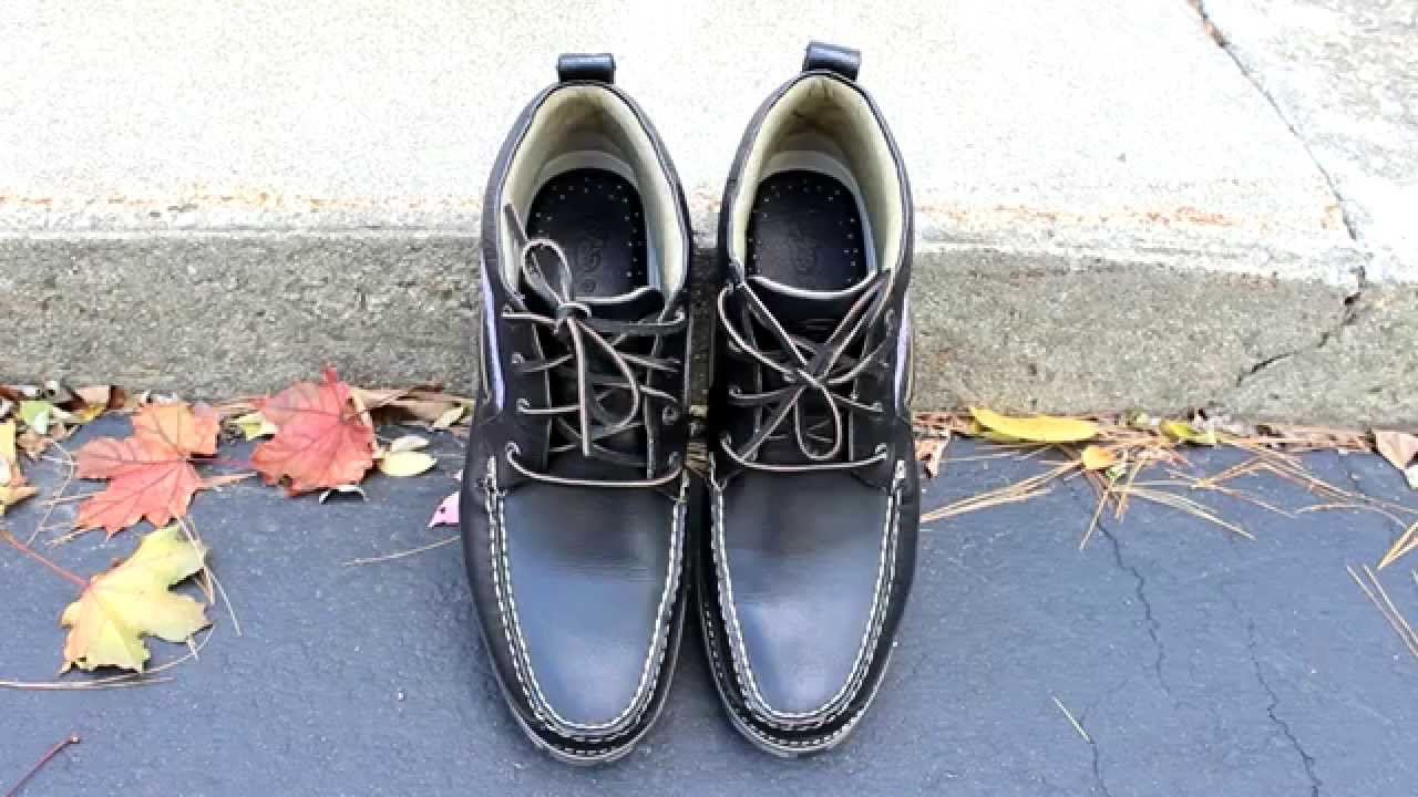 Fall Styles - Barneys X Sperry Top-sider - Wool Chukka Boots ON FEET ... 5cd091219571
