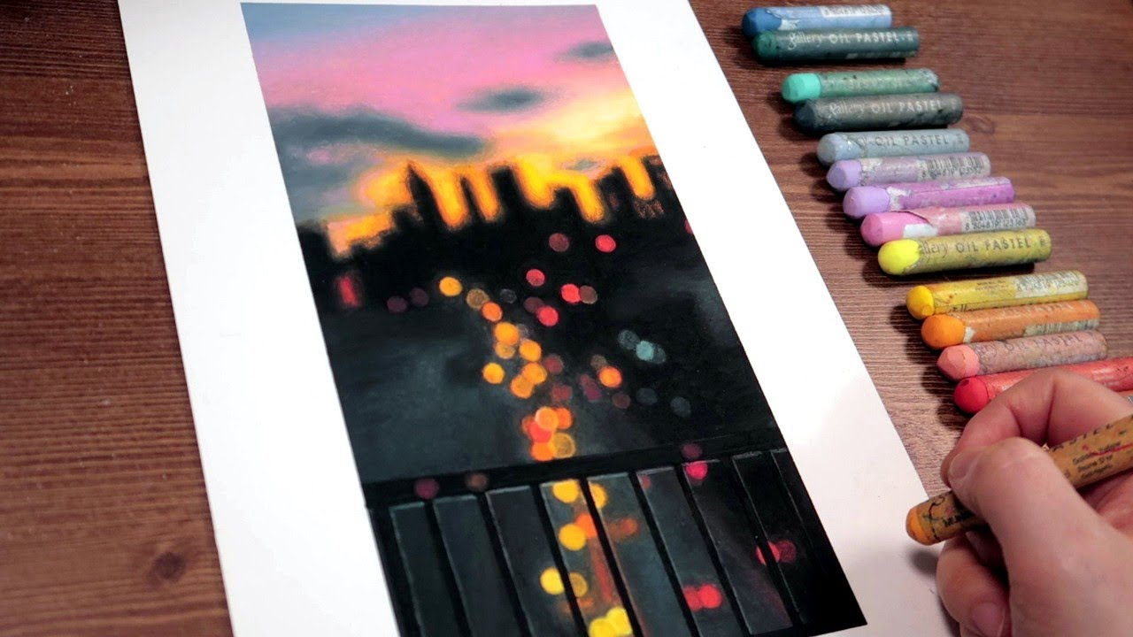 PM 7 : 30|Oil Pastel Drawing By Ohu Sia