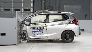2015 Honda Fit driver-side small overlap IIHS crash test