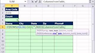 Excel Magic Trick 709: Defined Name Dynamic Range Formula w Relative References & Data Extract