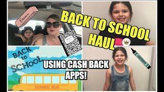 BACK TO SCHOOL HAUL ~ USING MONEY-SAVING APPS!