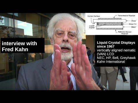 Fred Kahn work on LCD since 1967, LCOS projectors, VAN-LCD