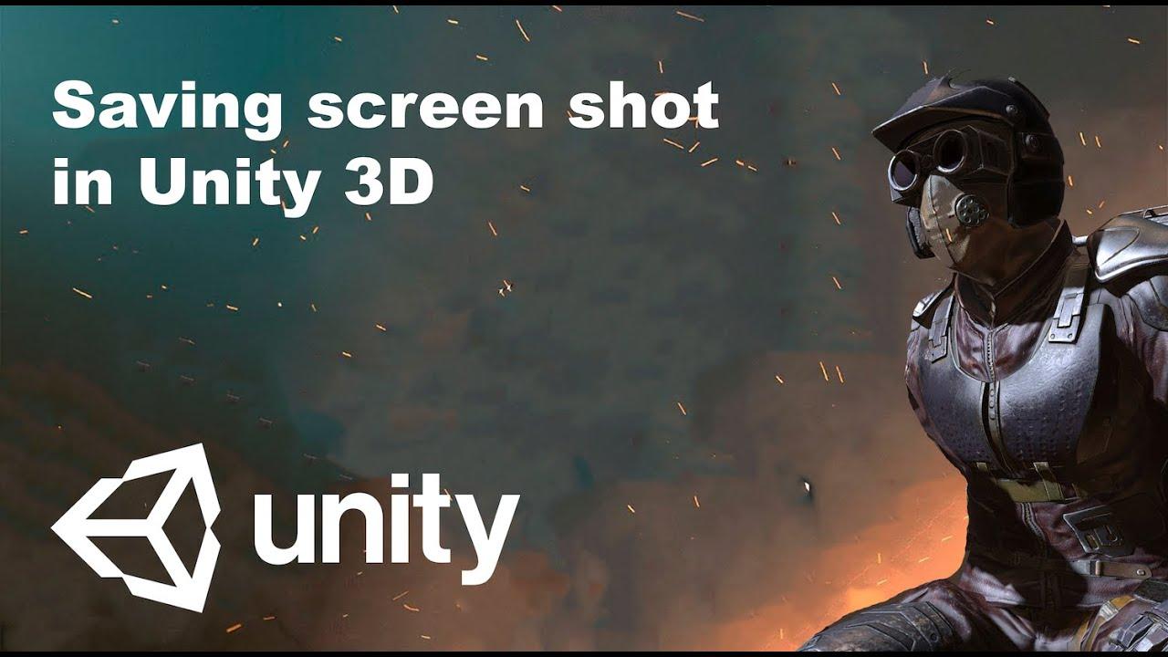 Saving screen shot in Unity 3D