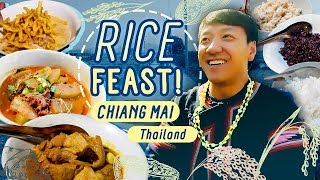 TRADITIONAL THAI RICE FEAST in Chiang Mai Thailand!