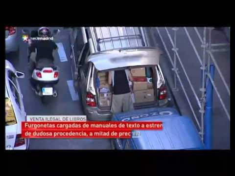 Librerías ambulantes ilegales en el centro de Madrid
