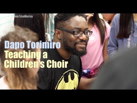 Dapo Torimiro Teaching Kids' Choir in Northern California
