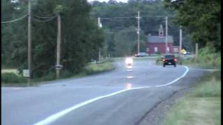 High Speed Motorcycle Pass by Cop