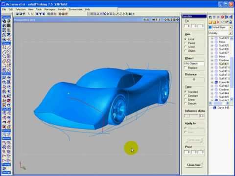 3D Car Sketch with solidThinking 7.5 - YouTube
