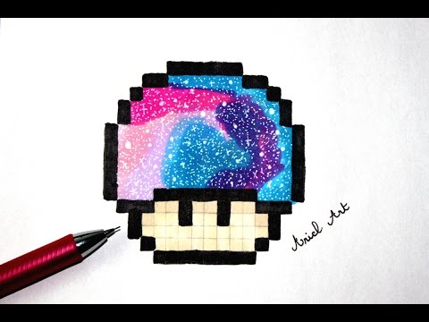 Pixel Art Facile Comment Dessiner Le Champignon De Mario Youtube
