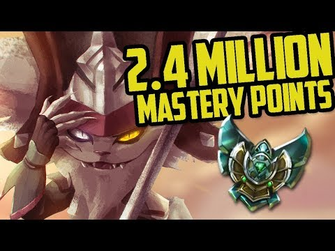 Platinum KLED 2,400,000 MASTERY POINTS- Spectate Highest Mastery Points on Kled