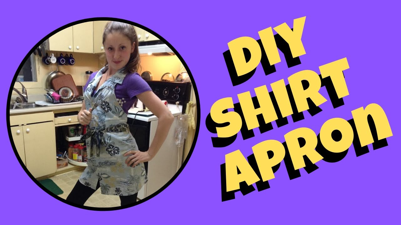 DIY Apron from Up-cycled Men's Shirt Easy Sewing Project ...