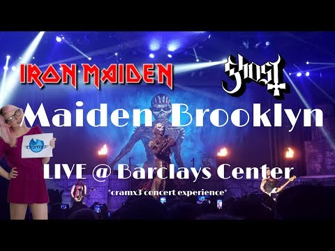 Maiden Brooklyn - Iron Maiden & Ghost LIVE @ Barclays Center Brooklyn NY 7/21-22/17 FINAL SHOWS BOS