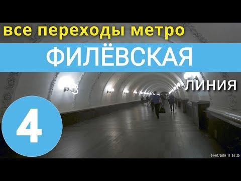 Филёвская линия метро. Все переходы // 7 августа 2019