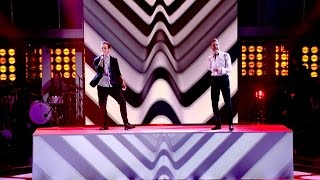 Ricky Wilson and Stevie McCrorie perform Get Back - The Voice UK 2015: The Live Final - BBC One