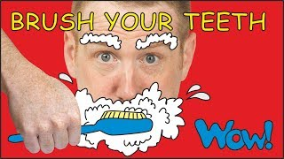 Steve, Brush your Teeth   English Stories for Kids   Steve and Maggie with Bobby Wow English TV