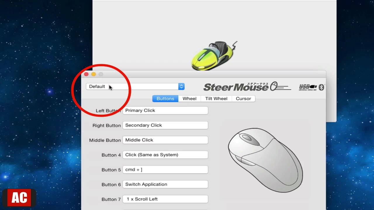 Bind Mouse Buttons to Keyboard Shortcut Based on Active App (Mac) -  SteerMouse