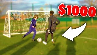 If I Get NUTMEGGED Again I Lose $1000 In This Soccer Challenge