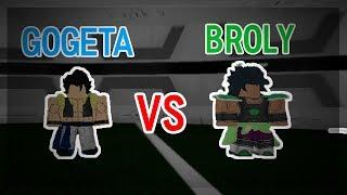 GOGETA VS BROLY! Anime Cross 2 Roblox
