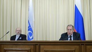 Пресс-конференция С.Лаврова и Л.Заньера