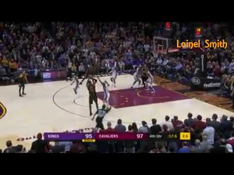 Lebron James Winning Three pointer shot VS Sacramento Kings / NBA / Cleveland 13 Straight game!