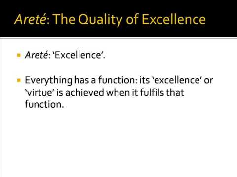 Arete: The Concept of Excellence