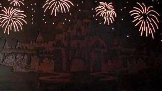 Disneyland Hotel Room Castle Firework Lights Over The Beds On Headboard