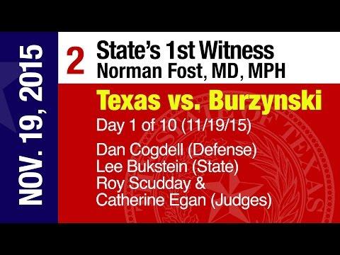 """(2) Day One (11.19.15): """"Witness: Norman Fost, MD"""" (Texas vs. Burzynski  2015-16)"""