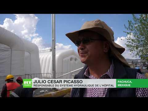 Coronavirus au Mexique: l'état d'Hidalgo installe un hôpital gonflable