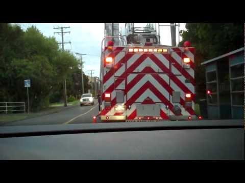 Saanich Fire Department Ladder 3 on Scene - Rear