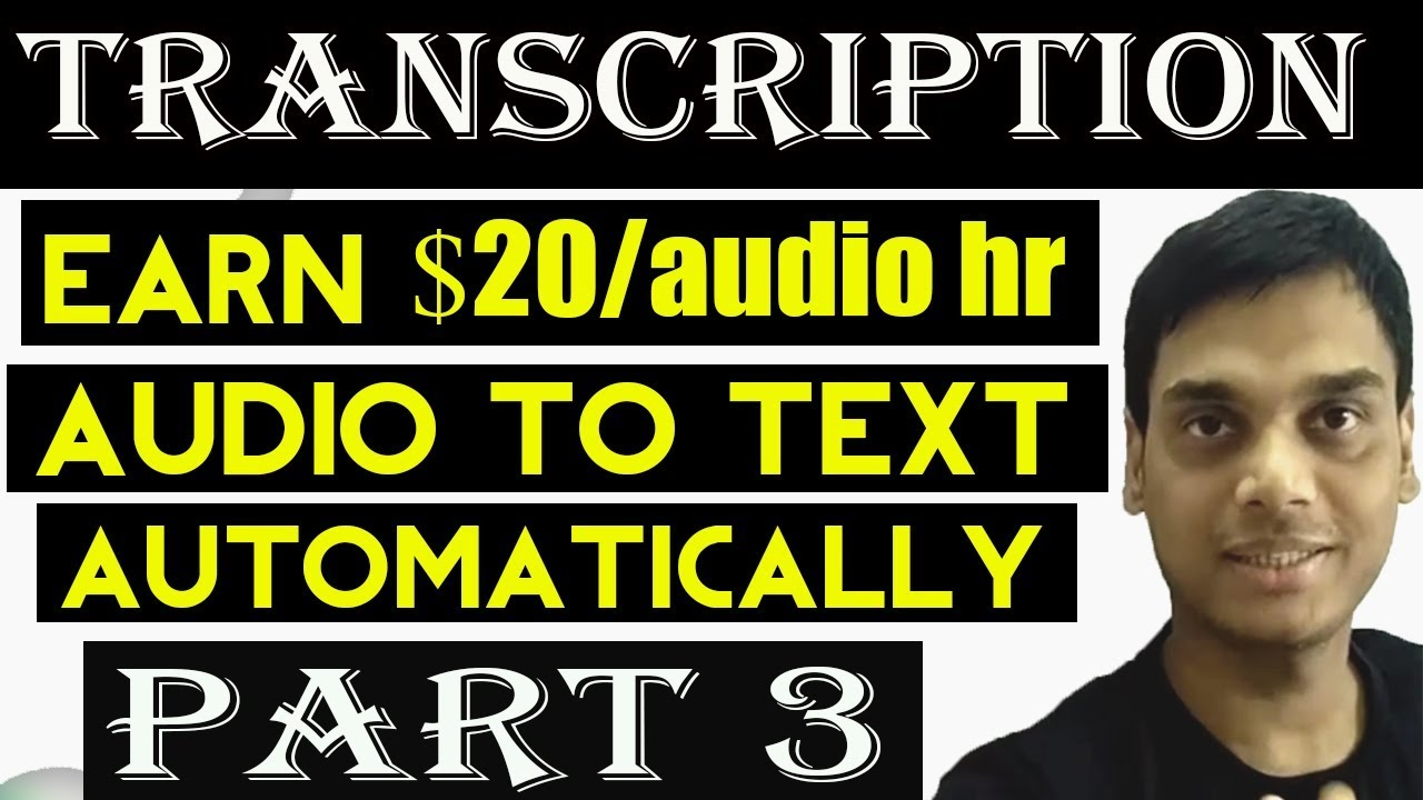 Transcription: Automatically transcribe video to text Part 3 | speech to  text | Helping Abhi
