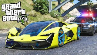 GTA 5 Mods - Bank Heist in a RARE Lamborghini!! (Evade Gameplay)