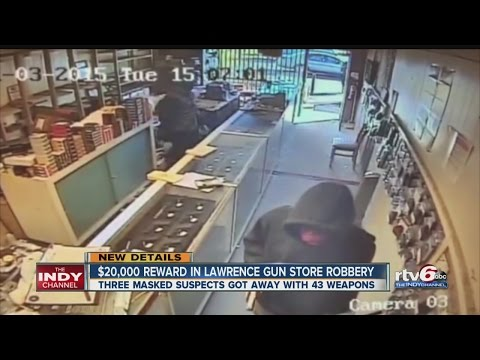 $20,000 reward offered in Lawrence gun store robbery