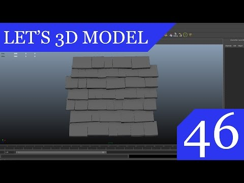 Let's 3D Model #46 - Creating Tiling Roof Texture in MAYA PT.1