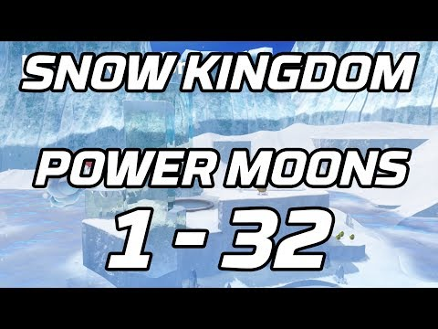[Super Mario Odyssey] Snow Kingdom Power Moons 1 - 32 Guide (Shiveria)