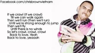 Chris Brown - Crawl [Lyrics Video]