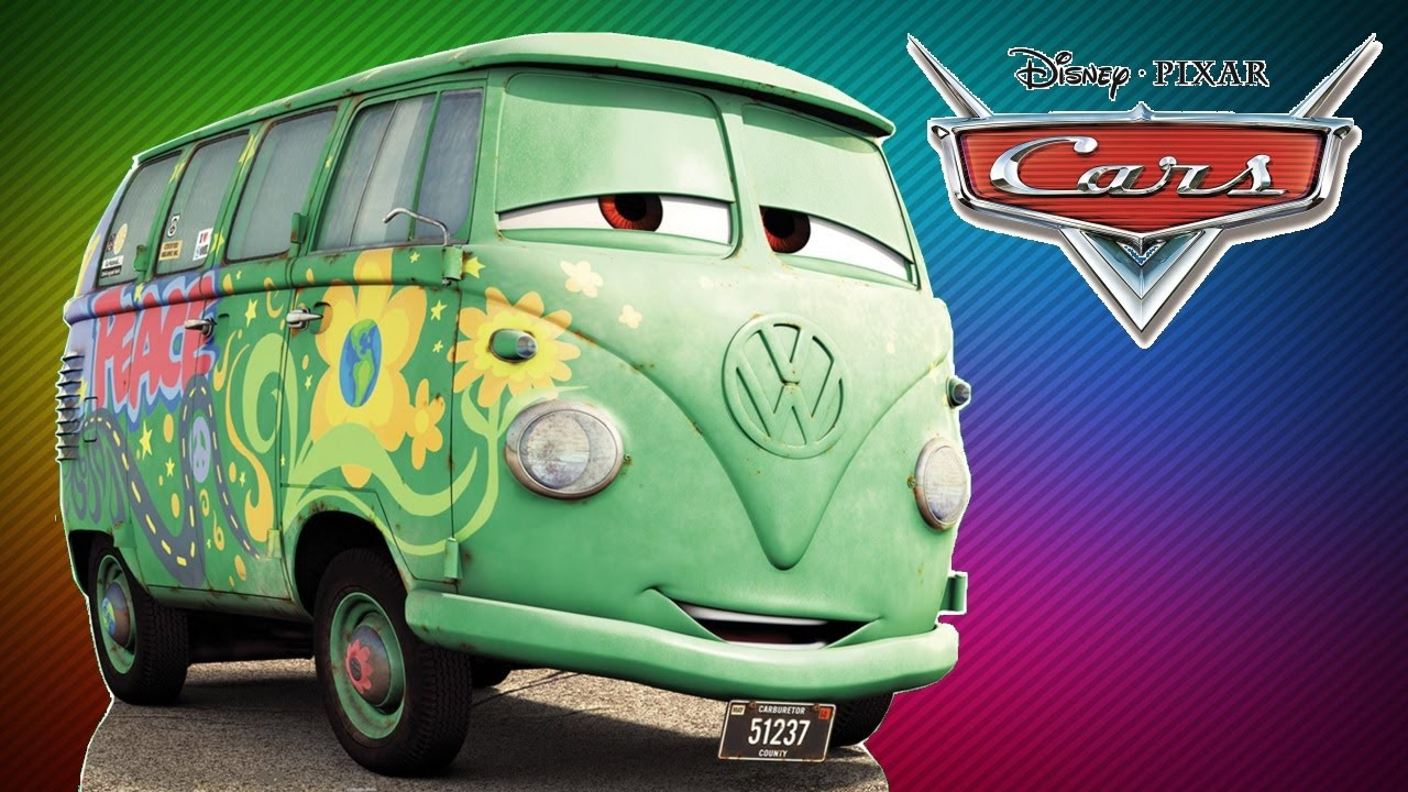 Cars Movie Character Fillmore Vw Bully 1 Friend From Mcqueen
