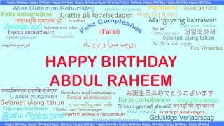 AbdulRaheem   Languages Idiomas - Happy Birthday