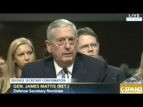 General Mattis Confirmation Hearing To Be Secretary Of Defense