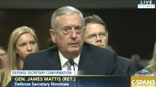 General Mattis Confirmation Hearing To Be Secretary Of Defense