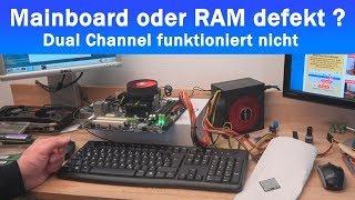Mainboard oder RAM defekt? PC-Speicherfehler sporadisch! DDR Steckplätze inkompatibel?