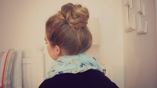 Quick & Easy Messy Bun | Long Hair | School, Work, etc.